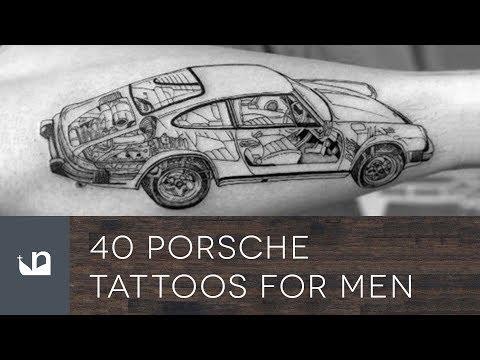 40 Porsche Tattoos For Men