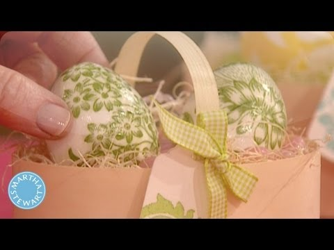Decoupage Eggs Martha Stewart