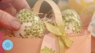 Repeat youtube video Decoupage Eggs - Martha Stewart