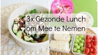 3x Gezonde Lunch: Meenemen naar School of Werk