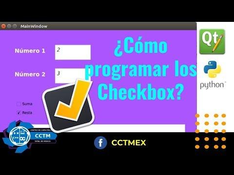 ¿Cómo programar los checkbox? |QT Designer| Python | PyQT5 | Ejemplo|¡Muy básico!