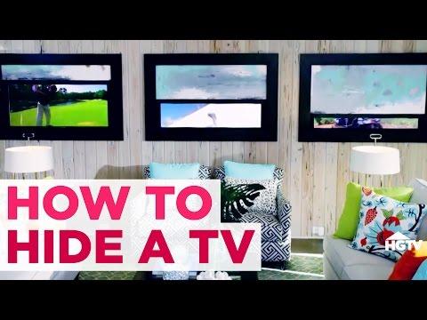 5 DIY Ways to Hide Your TV - Easy Room Decor - HGTV