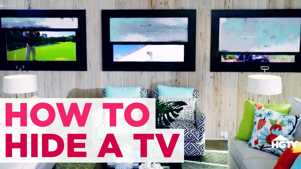 hiding tv in living room interior design ideas for apartment 5 diy ways to hide your easy decor hgtv youtube