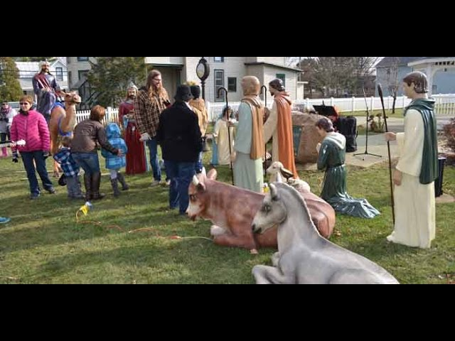 2014 Life-size Nativity In Leesburg, Indiana