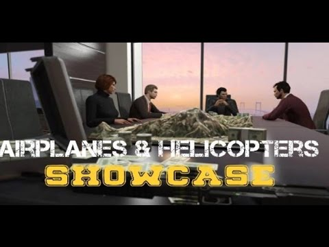 GTA ONLINE FINANCE AND FELONY HELICOPTER AND PLANE SHOWCASE