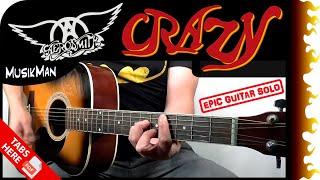 CRAZY 😵 - Aerosmith / GUITAR Cover / MusikMan #181