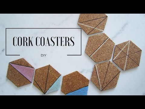 DIY  Hexagon Cork Coasters | MINIMALISTA