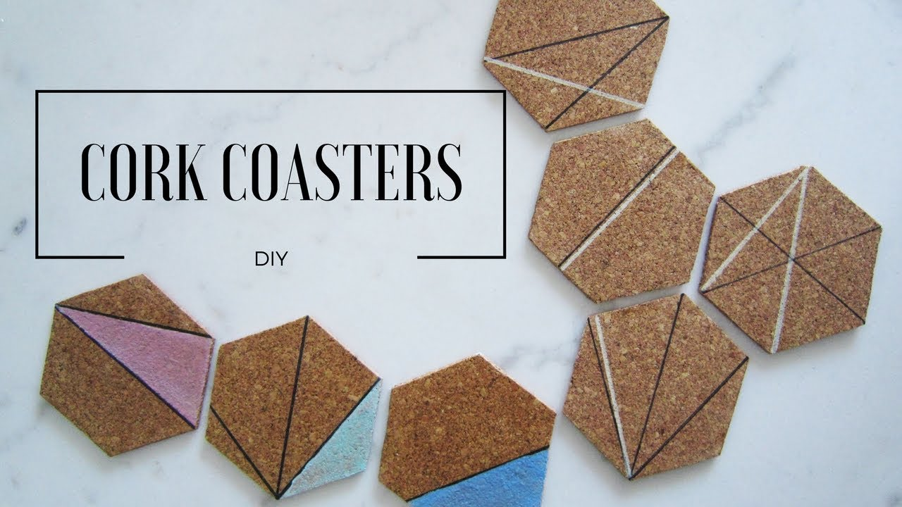 Diy Hexagon Cork Coasters Minimalista