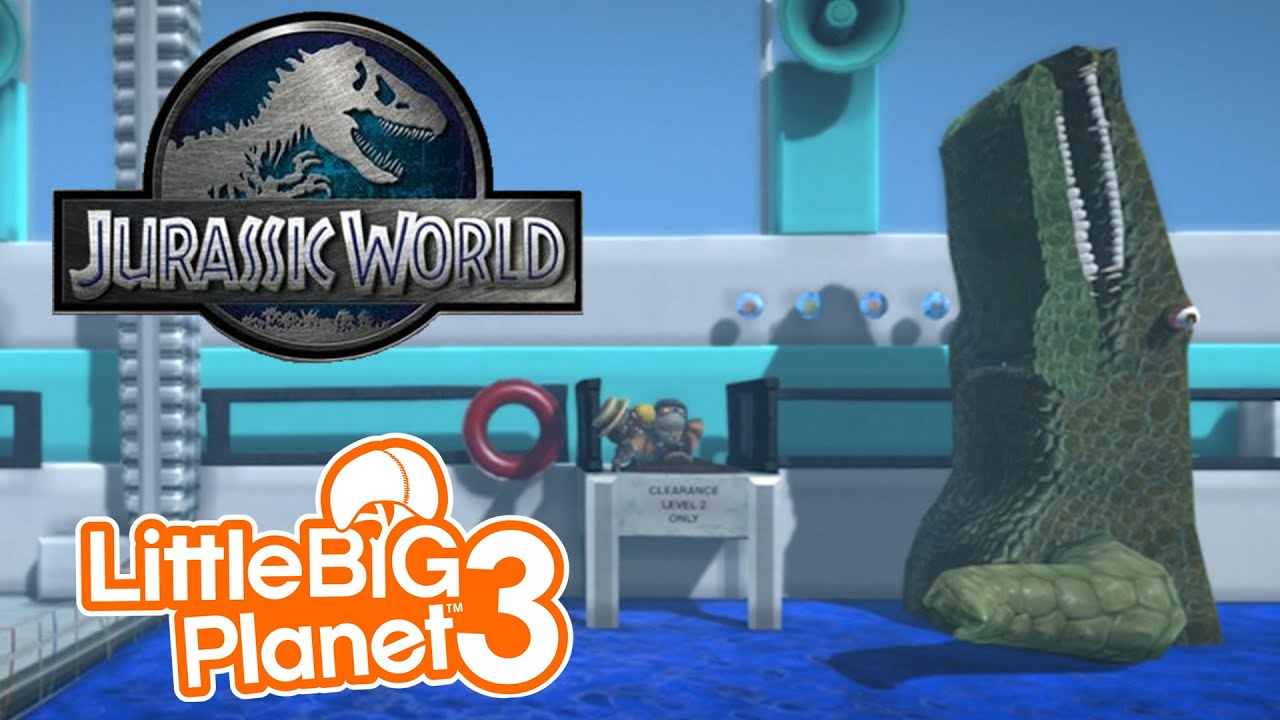 Little Big Planet Jurassic World SHOOT HER SHOOT HER YouTube - Little big world map