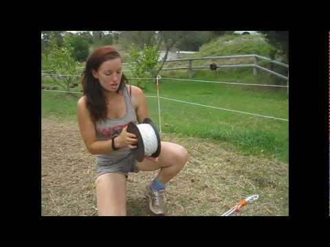 How To Set Up An Electric Fence For Horses Youtube