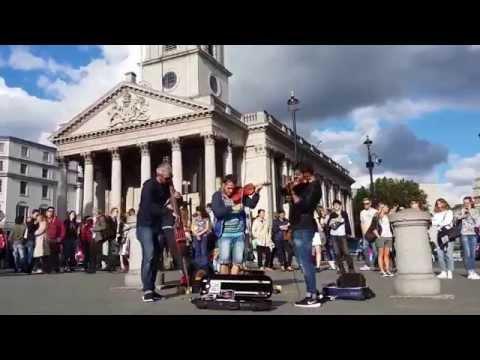 Beyonce - Halo (amazing violin cover) Trafalgar Square, London 15.08.23