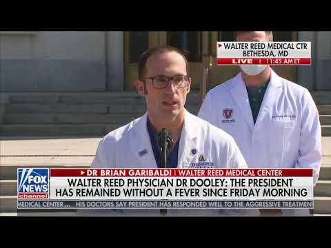 Doctor Brian Garibaldi: Our hope is to plan for a discharge as early as tomorrow to the White House