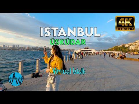 ⁴ᴷ⁵⁰ ISTANBUL WALK 🇹🇷 Walking Through Istanbul Bosphorus in Üsküdar.