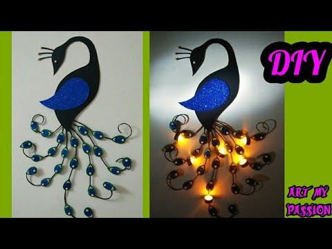 DIY Peacock Wall Hanging | DIY Wall Decor | Home Decorating ideas | DIY Wall Hanging | artmypassion thumbnail