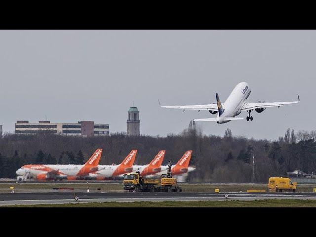 Klarer Himmel über Deutschland: 80 Prozent weniger Flugverkehr