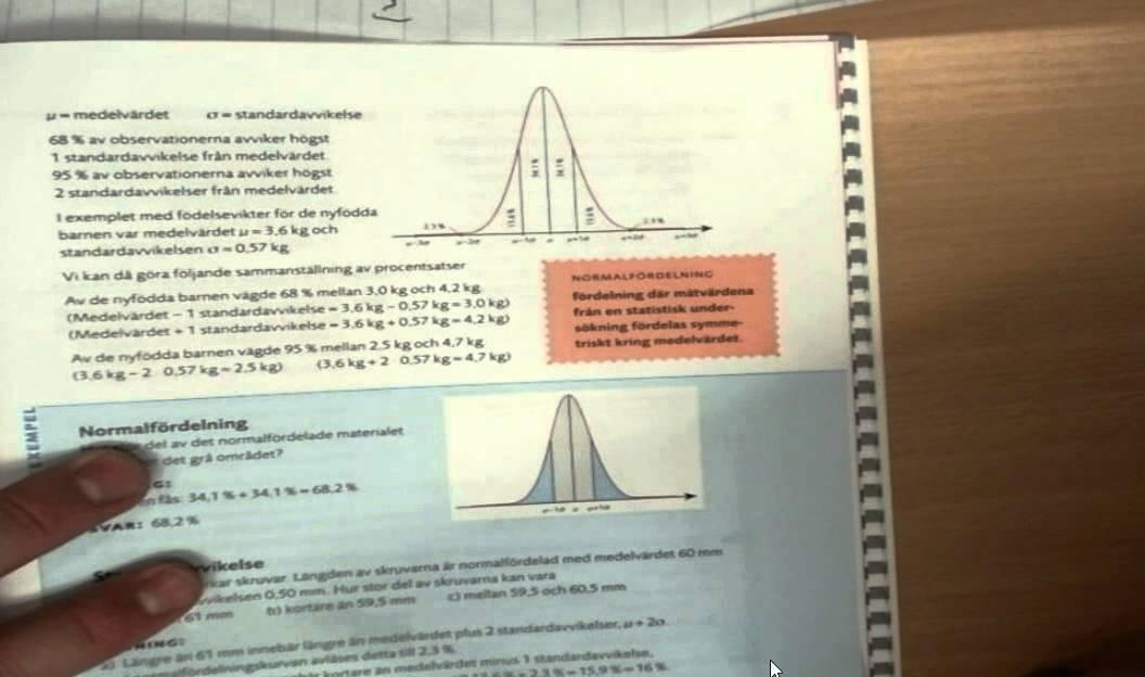 Normalfördelningen Ma 2c