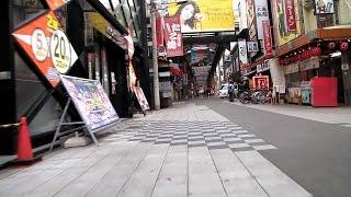 """【自転車でクネクネ】(6) 大阪難波 千日前商店街 """"Sennichimae"""" Exploring Osaka by bicycle"""