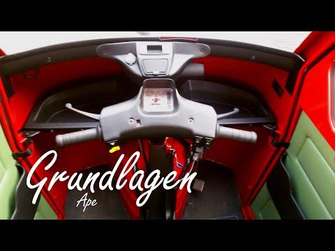 Grundlagen zum fahren mit der Piaggio Ape 50
