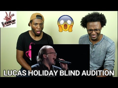 """The Voice 2017 Blind Audition - Lucas Holiday: """"This Woman's Work"""" (REACTION)"""