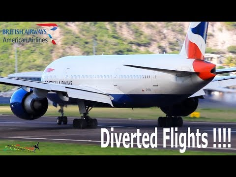 Diverted Flights From Antigua !!! BA 777-200 and AA 737-800 departing St. Kitts for Antigua