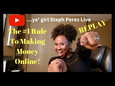 🔴 The #1 Rule to Making Money Online In 2018