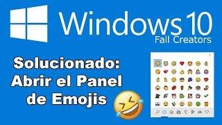 Solución: Como abrir el panel de emoticonos en Windows 10 Fall Creators.