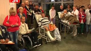 Из Днепропетровска в Эстонию отправились 10 раненых в зоне АТО бойцов(Десять раненых бойцов в зоне АТО отправили на лечение в Эстонию. Это солдаты разных украинских подразделен..., 2014-09-23T17:33:57.000Z)
