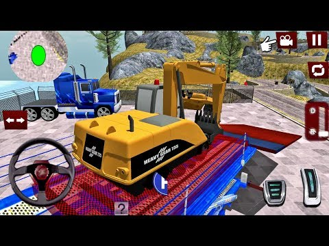 Construction Machines Truck Transporter - Excavator Cargo Game - Android gameplay - 동영상