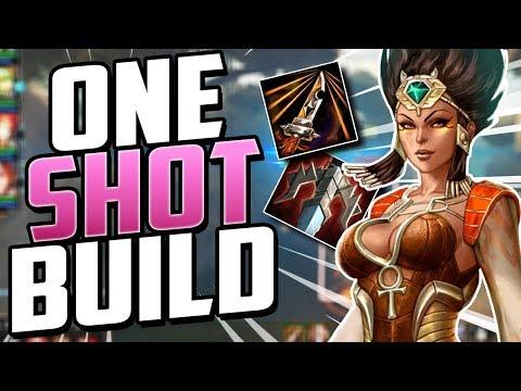 Smite: Serqet ONE SHOT Build  DOUBLE HEARTSEEKER?