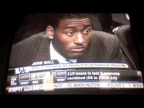 NBA Draft 2010: Washington Wizards and Beginning of Draft