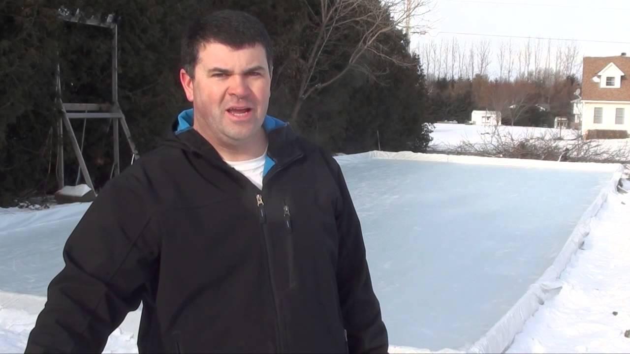 backyard rink flood youtube