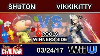 2GGC: Civil War - Shuton (Olimar) Vs. VikkiKitty (Corrin) Pools Winners Side - Smash Wii U
