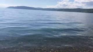 Озеро Байкал Берег Волны Шум Вода Baikal Irkutsk Russia