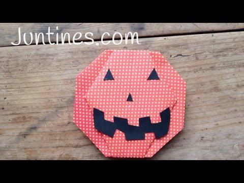 Cómo hacer una calabaza para Halloween de origami paso a paso