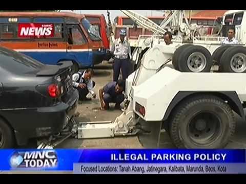 Jakarta's Illegal Parking Sanctions, September 2014