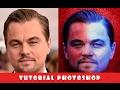 Photoshop Tutorial - Red blue effect model Leonardo DiCaprio