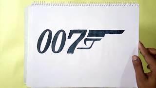 007 logo drawing lesson