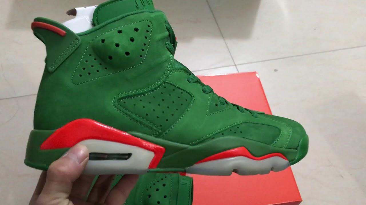 c4d9f6db0b2c Air Jordan 6 Gatorade green - YouTube