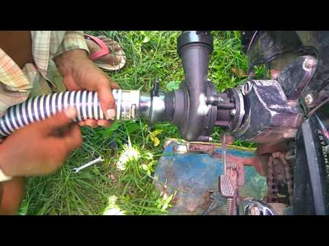 Motor Cycle water pump working