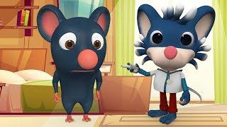 आज मंगलवार है चूहे को बुखार है - Chuhe Ko Bukhar Hai Hindi Rhymes | Cartoon-Kinderreime für Kinder