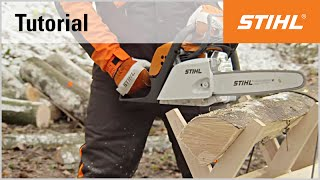 Video Tutorial On Chain Saws 10 - Firewood On A Sawhorse - Positioning Correctly