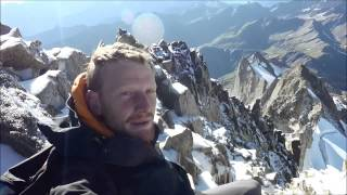 Climbing Mt Dolent on the Mont Blanc massif