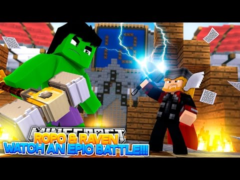 Minecraft Adventure - THOR vs THE HULK!!! - Видео из Майнкрафт (Minecraft)