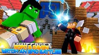 Minecraft Adventure - THOR vs THE HULK!!!