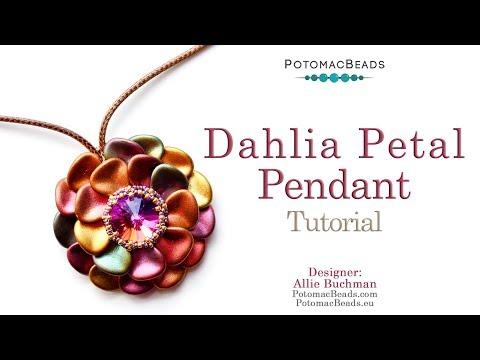 Dahlia Pendant Tutorial - DIY Jewelry Making Tutorial by PotomacBeads