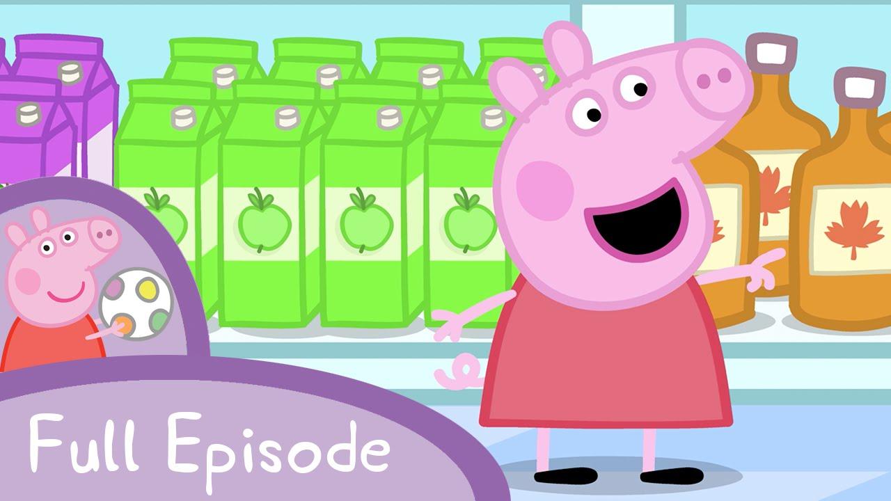 peppa pig shopping full episode youtube. Black Bedroom Furniture Sets. Home Design Ideas