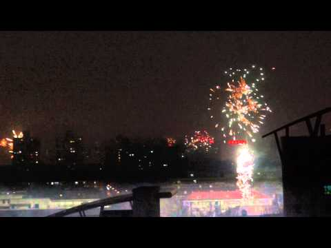 Fireworks Party on Chinese New Year at Beijing