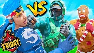 I beat Ninja while carrying Lazarbeam.. (Friday Fortnite)