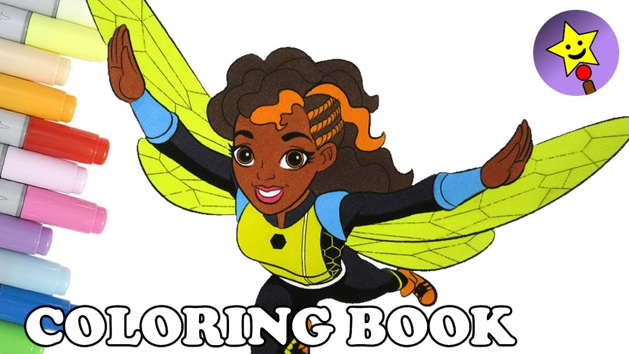 dc super hero girls bumblebee coloring book page dc superhero