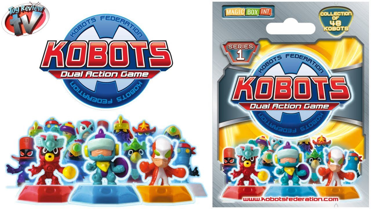 Yput Youtube: Kobots Dual Action Game Series 1 Blind Bags Toy Review